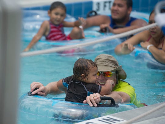 Families visited Sailfish Splash Waterpark on Tuesday,