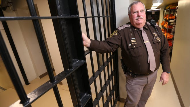 Franklin County Sheriff Ken Murphy has expressed concerns about jail overcrowding as a result of a sentencing reform that took effect in July 2014. Murphy was photographed at the county jail Jan. 22, 2015.