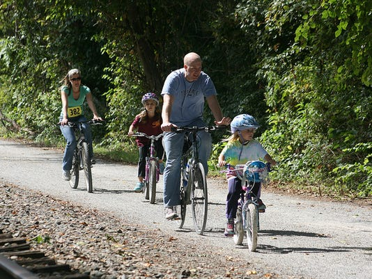 A family participates in the 2013 Bike Hike. PHOTO SUBMITTED