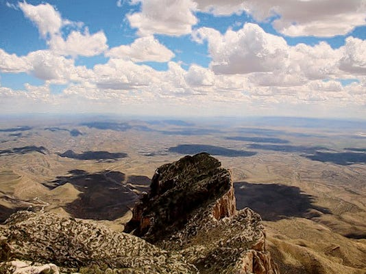 Photo courtesy of Tori Meyer   Guadalupe Peak drew artist in residence Tori Meyer, who said she chose to hike it instead of El Capitan during her 10-day stay at Guadalupe Mountains National Park.