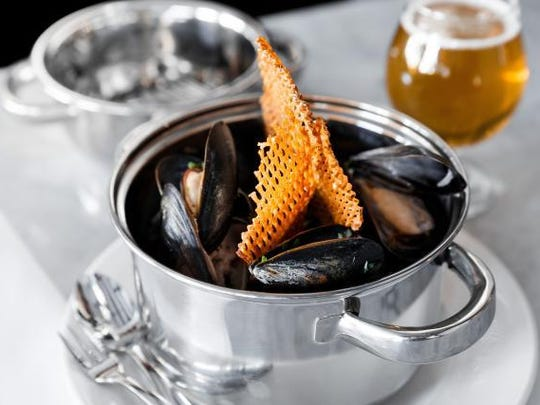 Namaste Steamed Ebenecooke Mussels is one of the dishes that will be served at Chesapeake & Maine, a new Rehoboth Beach seafood restaurant from Dogfish Head Craft Brewery. The eatery on Rehoboth Avenue is next door to Dogfish Head Brewings & Eats.
