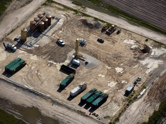 An aerial view of the Collier Hogan well on Thursday, July 24, 2014.  Scott McIntyre/Staff