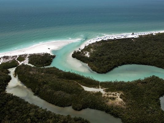 An aerial view of Clam Pass on Thursday, May 1, 2104, in Naples. (Dania Maxwell/Staff)