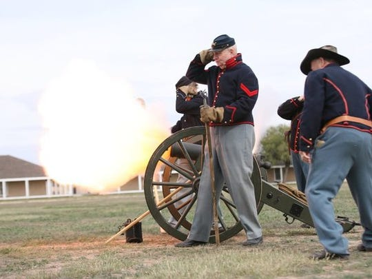 Re-enactors will fire cannons on a slightly different schedule this year at Christmas at Old Fort Concho.