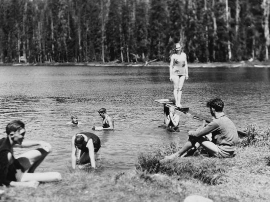 The lake has long been a favorite swimming spot. This