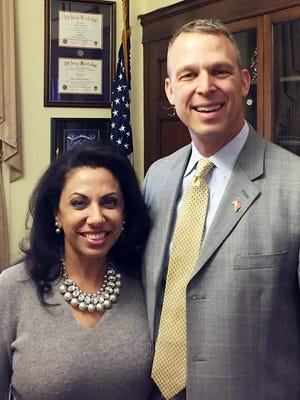 U.S. Rep. Scott Perry, R-Dillsburg, posted this photo of himself with Brigitte Gabriel, founder of ACT for America. (Photo cropped from original Facebook image)