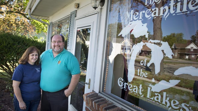 Owners Jim and Karen Racz pictured Wednesday, September 23, 2015 at The Mercantile of the Great Lakes, 1306 McPherson St. in Port Huron.