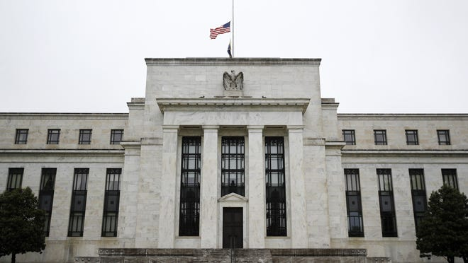 This May 22, 2020 photo shows the Federal Reserve building in Washington.