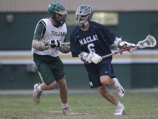 Maclay's Matthew Winegardner begins an offensive attack