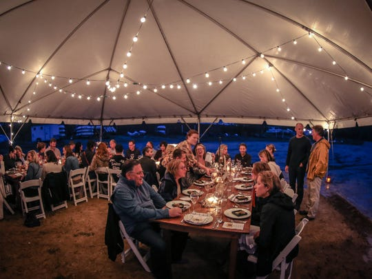 A recent Good Folk Supper Club dinner was served at at Sandy Hook Bay Catamaran Club.