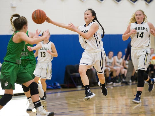 Susquehanna Valley guard Holly Manchester passes the