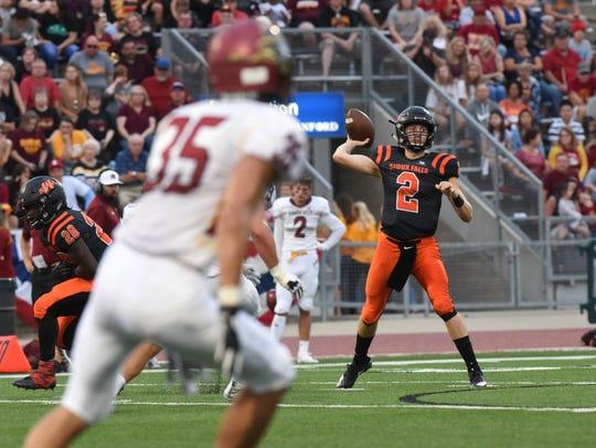 Washington High School Jayden Johannsen (2) throws