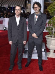 "Ethan Coen, left, and Joel Coen arrive at the world premiere of ""Hail, Caesar!"" at the Regency Village Theatre on Monday, Feb. 1, 2016, in Los Angeles. (Photo by Jordan Strauss/Invision/AP)"