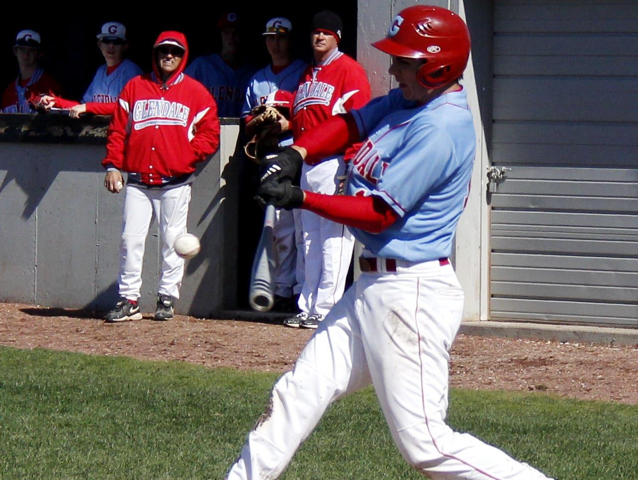 Sophomore outfielder Owen Gann leads Glendale in hitting headed into Tuesday's rivalry game at Glendale High School.