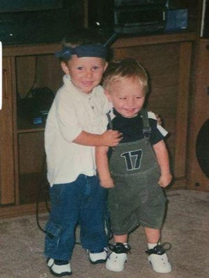 Ethan Eslick (right) is shown with his older brother Jordan, in a photo taken just weeks before Ethan was killed Aug. 29, 2002 in Dundee, Yates County.