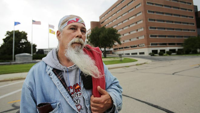 Mike Carlin, who worked at the Oscar Mayer plant in Madison for 23 years, talks about the plant closure after finishing up his shift on June 28, 2017.