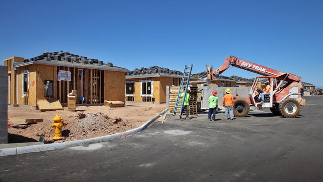 Construction is underway at Christopher Todd Communities on Greenway, a gated leased-home community near Greenway and Litchfield roads in Surprise.