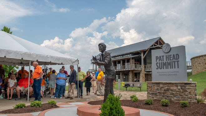 The Pat Head Summitt Legacy Park statue is unveiled on Friday, June 15.