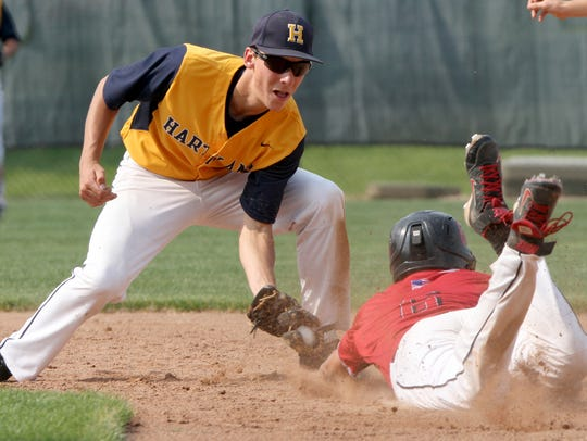 Hartland's Hunter Delanoy (left) is one of the area's