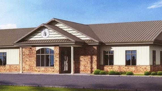 An artist depiction of the new municipal combined-services building in Eureka. Earlier this week, the facility played host to its first City Council meeting.