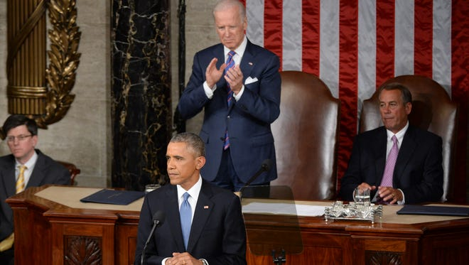 President Obama delivers the State of the Union Address on Jan. 20, 2015.