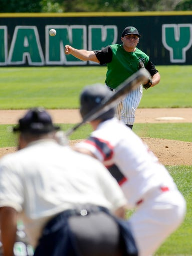 Isaac Grode pitches for Pierre as they play Post 15 West in the first round of the American Legion Baseball tournament Wednesday in Huron, July 30, 2014.