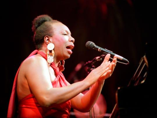 Legendary jazz and blues singer Nina Simone in concert