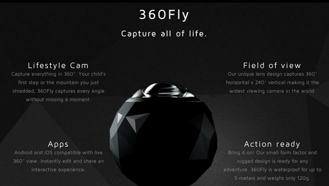 The 360Fly action cam by EyeSee360 offers 360 degree views of the world around you