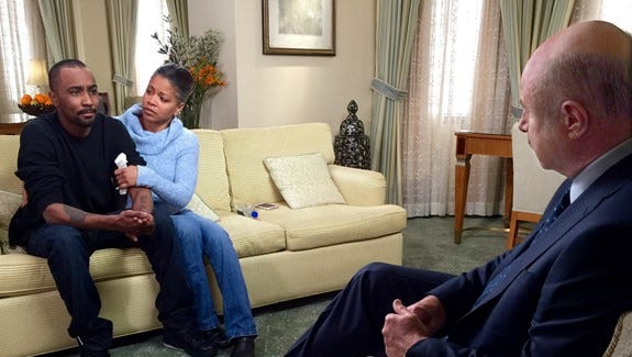 Dr. Phil talks to Nick Gordon with Nick's mom, Michelle.
