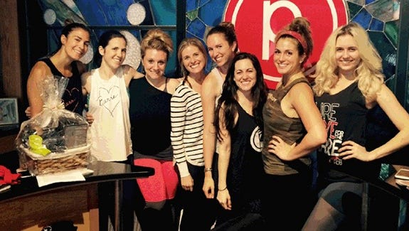 Catalina Lehman (2nd from the right) with her Pure Barre instructors.