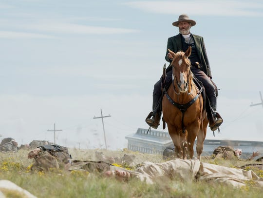 "Jeff Daniels in a scene from Netflix's ""Godless."""