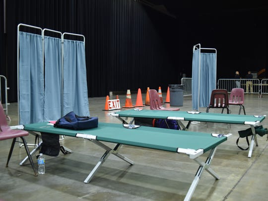 A medical area set up as part of the Dutchess County