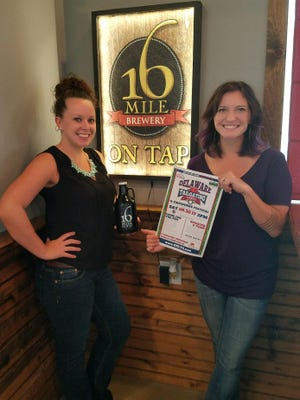 Heather Snyder and Angelina Idler of 16 Mile Brewery are shown at the brewery in Georgetown, which will be the site of the Delaware Tailgating Games & Fireworks Festival on Saturday, Sept. 30, 2017.