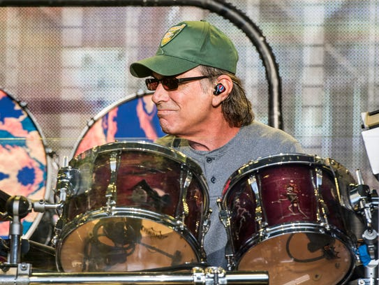 Mickey Hart, pictured at Shoreline Amphitheatre in