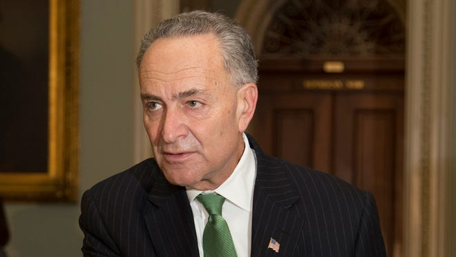 Sen. Charles Schumer, D-N.Y., calls for the end to restrictions on shipping wine, beer and spirits through the U.S. Postal Service. On Wednesday, Oct. 30, 2013, Schumer announced he would fight to end the Prohibition-era restriction.