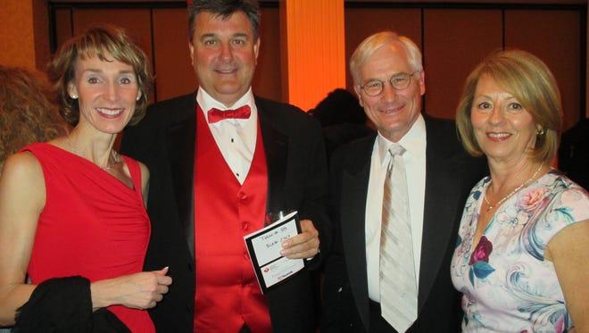 Maureen and Dan Kwiecinski (left), Arlyn and Jackie Fredrick at the Heart & Stroke Ball.