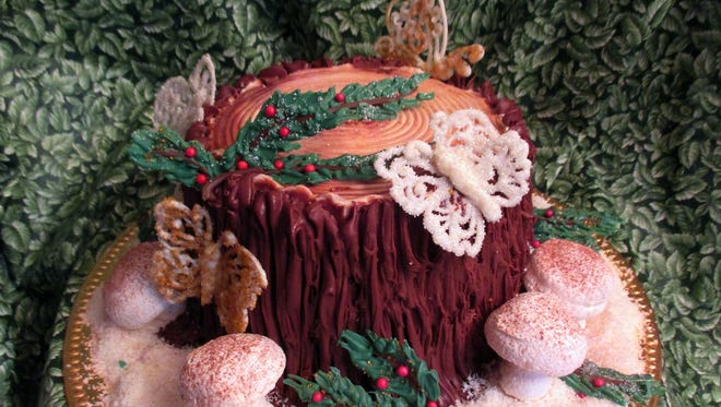 Goodie-licious Baking takes the French yule log to the next level with the Enchanted Forest Christmas Cake, available for delivery throughout Brevard.