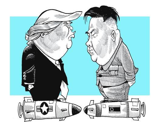 636416975955431106-Thompson-illo-Trump-North-Korea.jpg