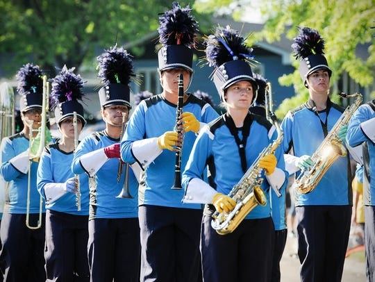The Solar Sound Marching Band, St. Cloud, prepare for