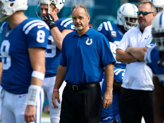 Colts coach Chuck Pagano.
