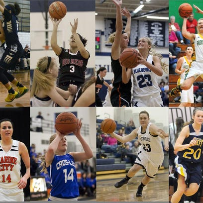Area girls basketball teams are set to tip off their postseason play in districts today.