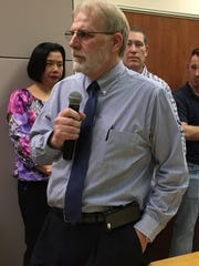 Laurich Meadows resident Glenn Manns, a local magisterial district judge, told Chambersburg's curb and sidewalk committee Thursday night that there would be a number of problems with putting sidewalks throughout that development.