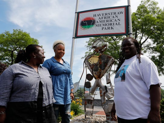 """Linda Epps, Lashana Kee and Virgina """"Ginny"""" Norfleet organizers of the Juneteenth celebrations at the Haverstraw African-American Memorial Park in the Village of Haverstraw on June 11, 2018."""
