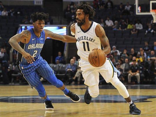 Memphis Grizzlies guard Mike Conley (11)