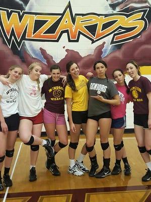 Windsor volleyball's senior class, from left to right: Sabrina Nunn, Jordyn White, Avery Myatt, Emma Lang, Kylie Hurst, Lacey Garcia and Payton Frantz.