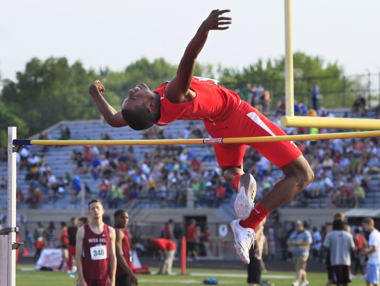 FILE – Pike's Rahman Minor won the high jump at the New Balance indoor championships.