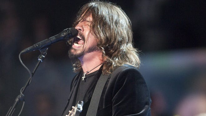 The Foo Fighters excite the crowd with a performance during the start of The Democratic National Convention Thursday, September 6, 2012 in Charlotte, NC.