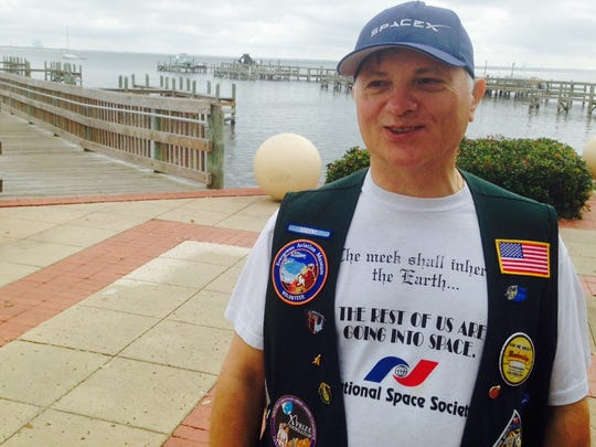 Charles Radley of Palm Bay, a volunteer with the Florida