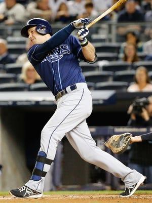 Evan Longoria homered twice in the Rays' sixth straight win.
