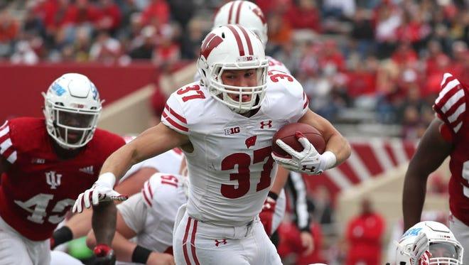 Running back Garrett Groshek has contributed to the Badgers' rushing attack this season.